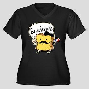 French Toast Women's Plus Size V-Neck Dark T-Shirt