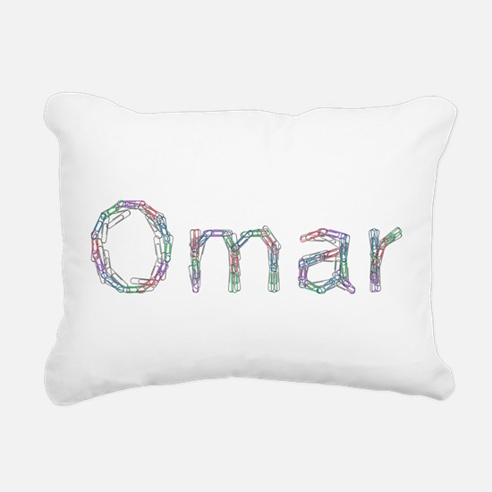 Omar Paper Clips Rectangular Canvas Pillow