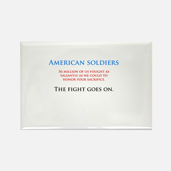 I'm sorry soldiers Rectangle Magnet