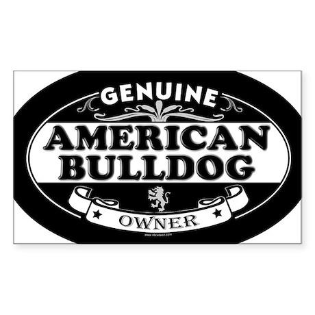 AMERICAN BULLDOG Oval Sticker
