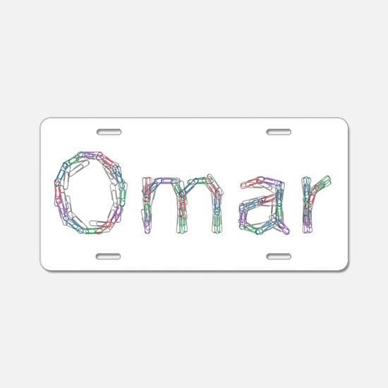 Omar Paper Clips Aluminum License Plate