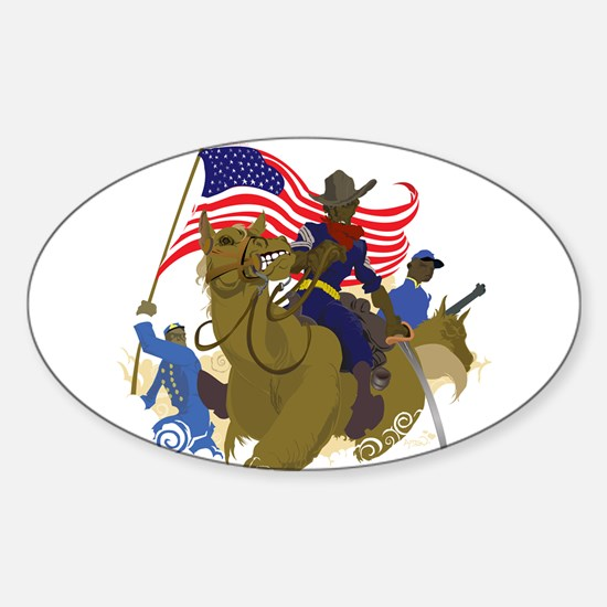 buffaloSoul.jpg Sticker (Oval)