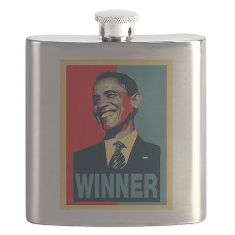 Barack Obama Winner Flask