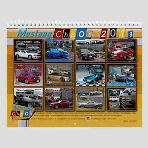 2013 Mustang Chaos Wall Calendar