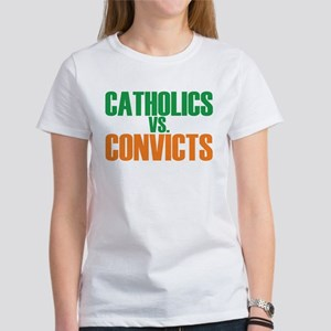 Catholics vs Convicts (Front Only) T-Shirt T-Shirt