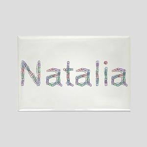 Natalia Paper Clips Rectangle Magnet