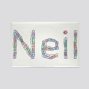 Neil Paper Clips Rectangle Magnet