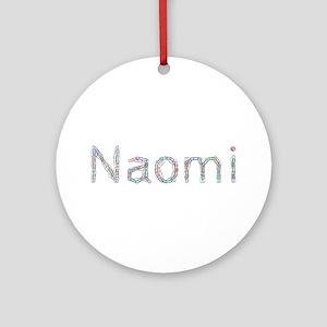 Naomi Paper Clips Round Ornament
