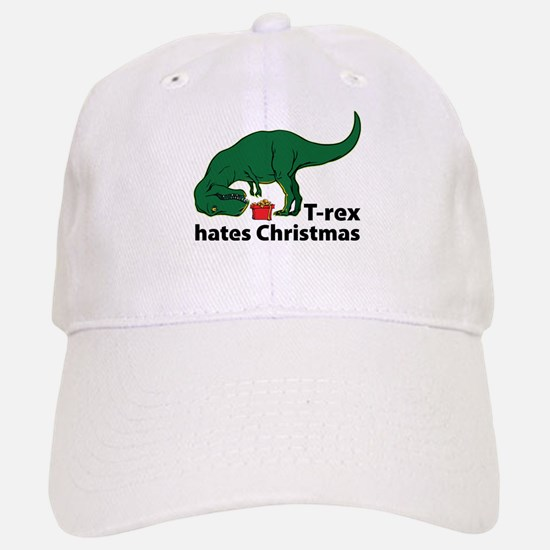 T-rex hates Christmas Baseball Baseball Cap