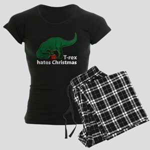 T-rex hates Christmas Women's Dark Pajamas