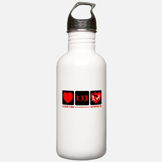 If Zombies Chase Us Water Bottle