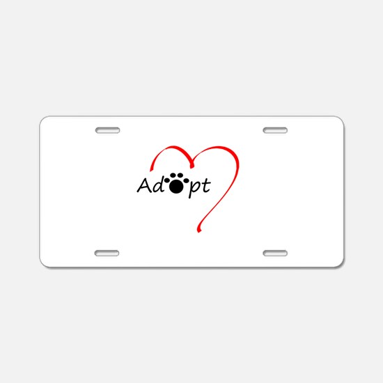 Adopt Aluminum License Plate