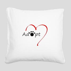 Adopt Square Canvas Pillow