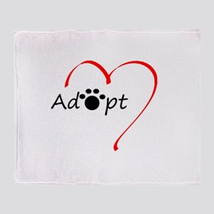 Adopt Throw Blanket