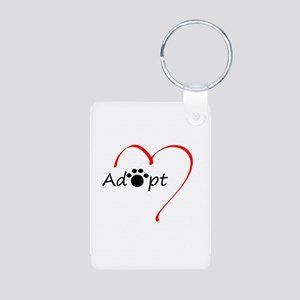 Adopt Aluminum Photo Keychain