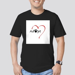 Adopt Men's Fitted T-Shirt (dark)