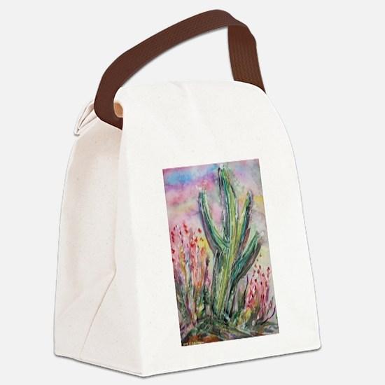 Saguaro cactus! Southwest art! Canvas Lunch Bag