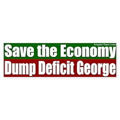 Dump Deficit George Bumper Bumper Sticker