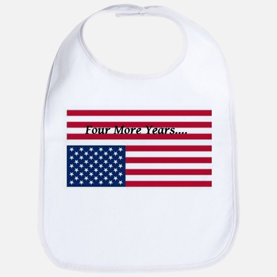 Four More Years of Obama - distress flag Bib