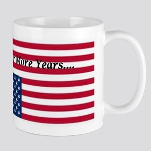 Four More Years of Obama - distress flag Mug