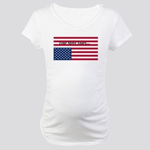 Four More Years of Obama - distress flag Maternity