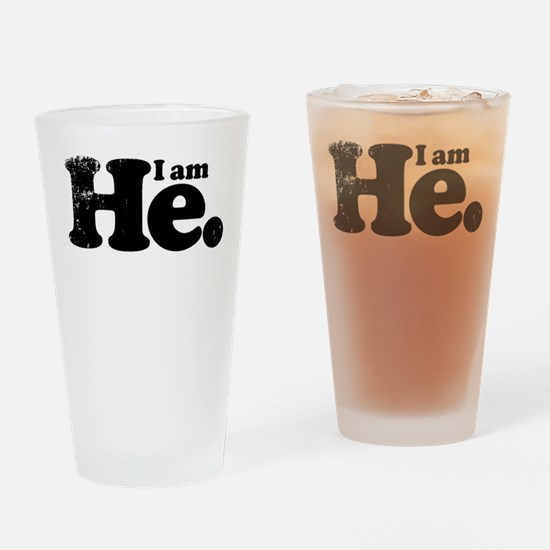 I am he. Drinking Glass