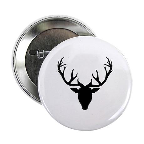 "Deer antlers 2.25"" Button (10 pack)"