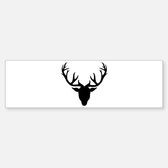 Deer antlers Sticker (Bumper)
