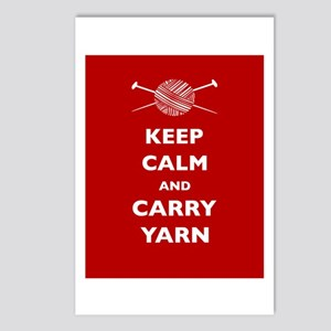 Keep Calm Carry Yarn Postcards (Package of 8)