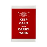 Keep Calm Carry Yarn Rectangle Magnet (10 pack)