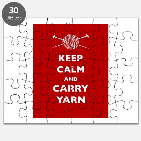 Keep Calm Carry Yarn Puzzle