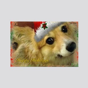 I support Rescue- Happy Holidays Rectangle Magnet