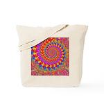 Psychedelic Pink Fractal Art Tote Bag