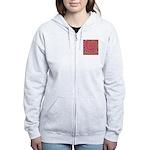 Psychedelic Pink Fractal Art Women's Zip Hoodie