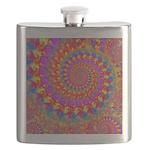 Psychedelic Pink Fractal Art Flask