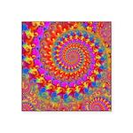 Psychedelic Pink Fractal Art Square Sticker 3