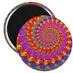 Psychedelic Pink Fractal Art Magnet
