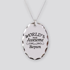 Awesome Necklace Oval Charm