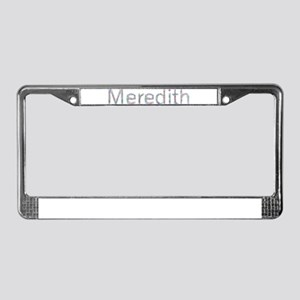 Meredith Paper Clips License Plate Frame