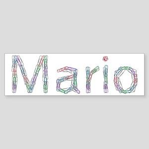 Mario Paper Clips Bumper Sticker