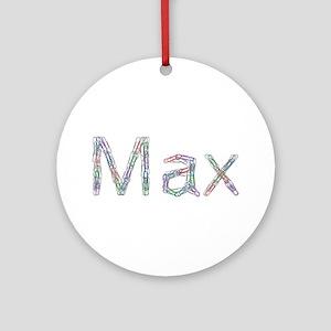 Max Paper Clips Round Ornament