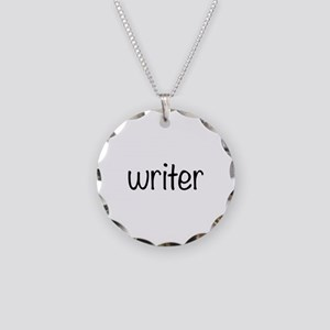 Writer Necklace Circle Charm