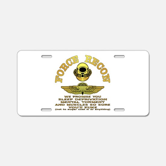 Force Recon We Promise Aluminum License Plate