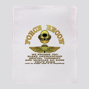 Force Recon We Promise Throw Blanket