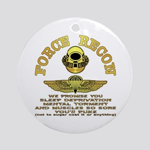 Force Recon We Promise Ornament (Round)