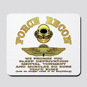 Force Recon We Promise Mousepad
