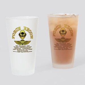 Force Recon We Promise Drinking Glass