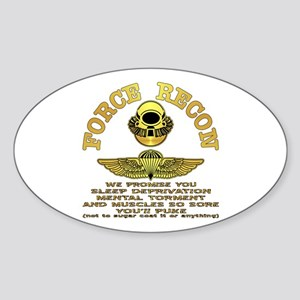 Force Recon We Promise Sticker (Oval)