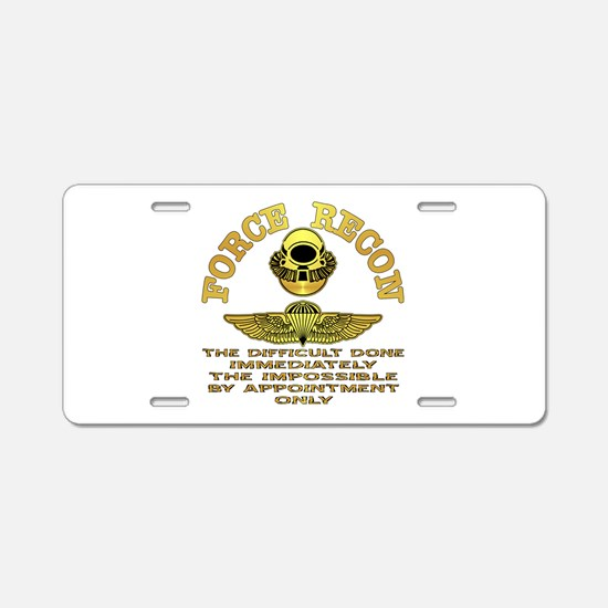 Force Recon The Difficult Aluminum License Plate