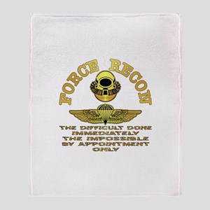 Force Recon The Difficult Throw Blanket